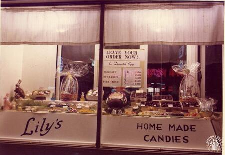 Image: di140130 - View of Lily's home made candies store front display.      These images appeared in the Northern Kentucky....