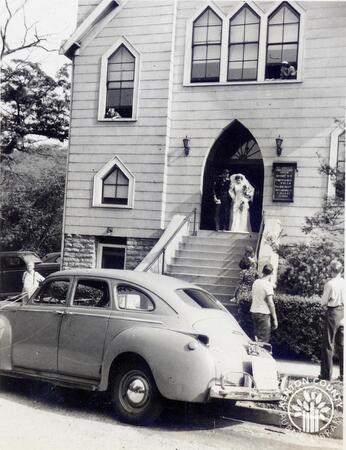 Image: di140135 - Marriage of Katherine Papas and Norbert Harmann on June 23, 1947 at St. John Congregational Church in....