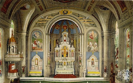Image: di140392 - Interior of St. Aloysius Church at 7th and Bakewell Sts.