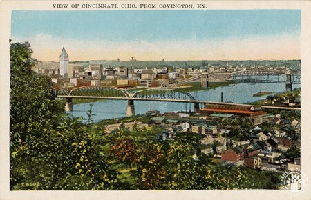 Image: di140400 - View of Cincinnati, Ohio from Covington, KY.