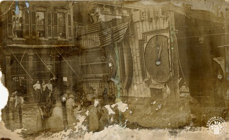 Image: di140407 - Postcard showing aftermath of July 1915 tornado