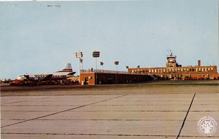 Image: di140441 - 1957 airport postcard - at this time the airport had