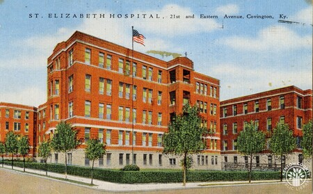Image: di140453 - Postcard of St. Elizabeth Hospital at 21st and Eastern Ave. in Covington.