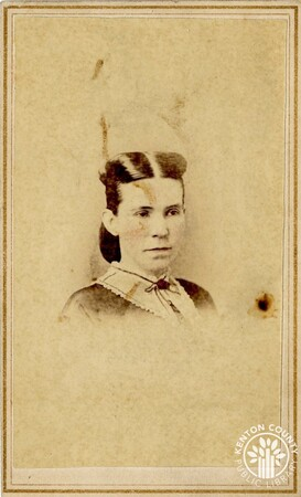 Image: di140475 - Name of woman is unknown -  taken by photographer Charles Waldack, 28 W. 4th St., Cincinnati.