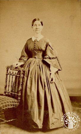 Image: di140495 - Augusta Hilton Alley (ca. 1821-1893), buried in Spring Grove - photo from Ball & Thomas Photographic....