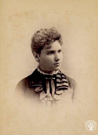 Image: di140511 - Photo of unknown woman - picture done by Theo C. Marceau, 148 W. 4th St., Cincinnati.