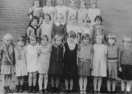 Image: di141001 - Holy Guardian Angels School class photo. Grade 1, 2, and 3. Left to Right. First row: Mary Elizabeth....