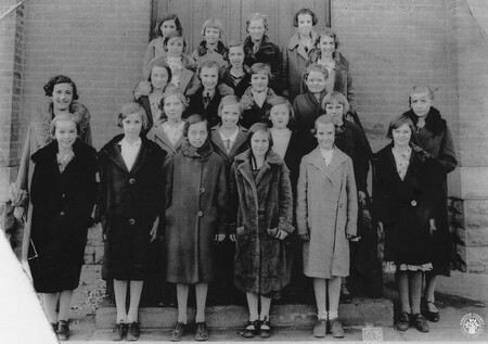 Image: di141002 - Holy Guardian Angels Class photos - Grades 5, 6, 7, and 8. Left to Right: Row 1: Virginia Kahmann, Theresa....