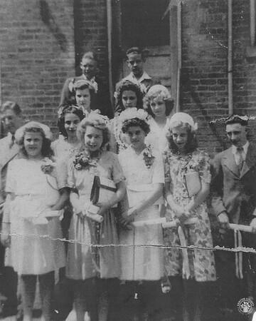 Image: di141003 - Class of 1944 - Holy Guardian Angels Row 1: Eugene Hesselman, Robert Eubanks Row 2: Laverne Merkle,....