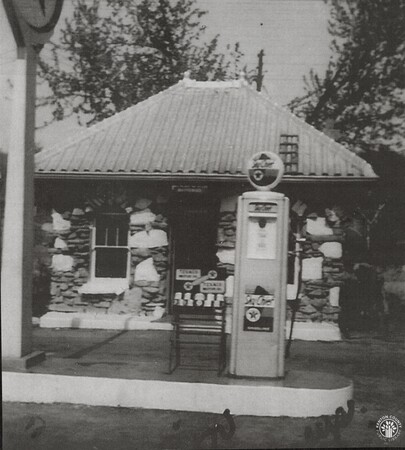 Image: di141007 - This Texaco gas station was owned by the Carney family and run by Ed Fisher. It was located next to the....