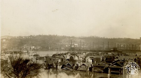 Image: di141015 - Eastern Ave. and 21st St. during the flood of 1937.
