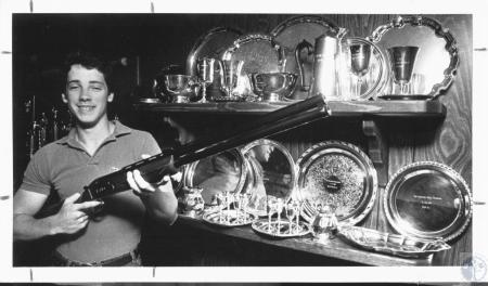 Image: di18058 - Tim Boyle with Trap Shooting Trophies