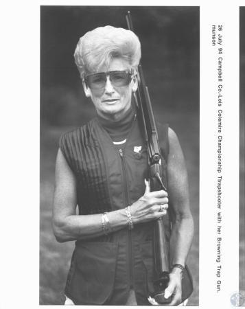 Image: di18282 - Lois Colemire, championship trapshooter