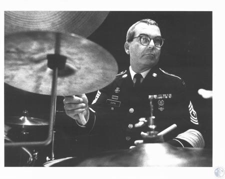 Image: di18445 - Tom Dupin, drummer with the Jazz Ambassadors on the US Army Field Band