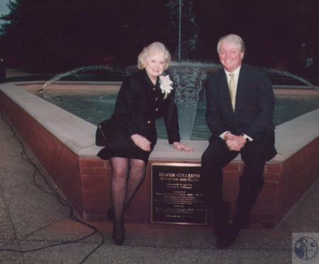 Image: di18818 - Audrey Gillespie and Mike Adams on Gillespie Plaza at Centre College