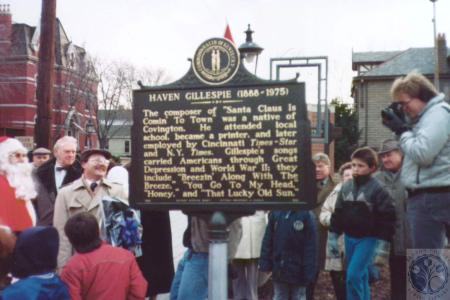 Image: di18831 - historical marker for Haven Gillespie