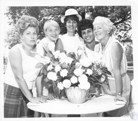 Image: di18840 - Mrs. Wallace S. Grubbs, Mrs. Larry West, Mrs. James Osborne, Mrs. Paul Rogers, Mrs. John Conway