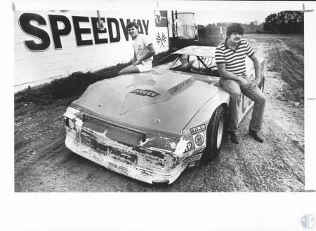 Image: di18872 - Gary and Troy Green with car they built that set track record at Florence Speedway