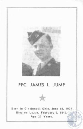 Image: di19226 - James L. Jump memorial card