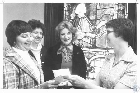 Image: di19347 - Mrs. William Koester, Mrs. Edward Gronotte, Mrs. Thomas Meihaus, Sister Stella Marie