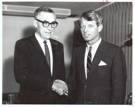 Image: di19398 - John J. Moloney and Senator Robert F. Kennedy