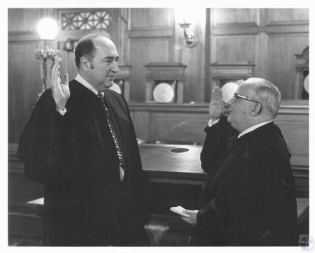 Image: di19553 - Judge Robert Lukowsky being sworn in