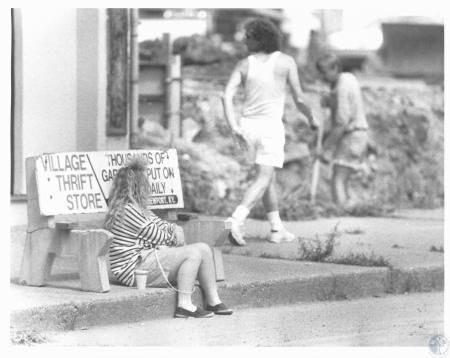 Image: di19663 - Sonya Massengale (17) waiting on bus