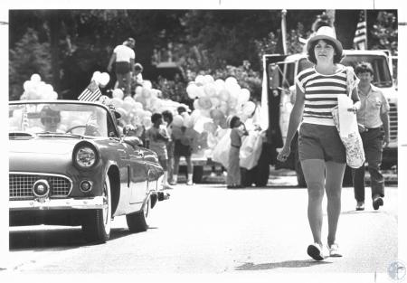 Image: di19708 - Dee Monroe making sure Fort Thomas 4th of July parade is ready