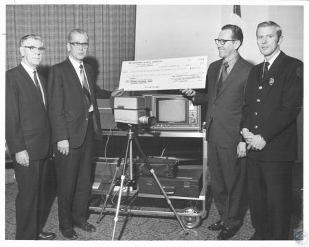 Image: di20364 - William G. Schuette, Marvin Matthews, Earl Gilreath and Bill Ford