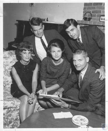 Image: di23254 - Monica Lyons, Susan Young, George Thelen, (rear) Tom Young, Patrick Lambert
