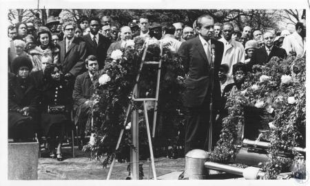 Image: di23269 - Whitney Young funeral; Richard Nixon