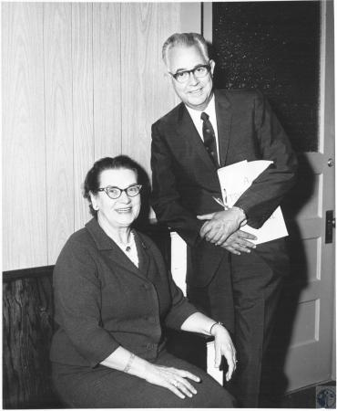 Image: di23273 - Covington City Council PTA Miss Helen Mae Young and Mr. Harry T. Mitchell