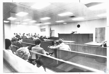 Image: di23505 - Deputy Circuit Clerk, Thelma Young reading indictments after jury gave them to Judge James Gilliese in....