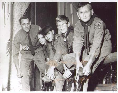 Image: di23810 - Members of Florence Boy Scout Troop No. 1, Eugene W. Zornes, scoutmaster, Steven Engels, Daniel Zornes,....