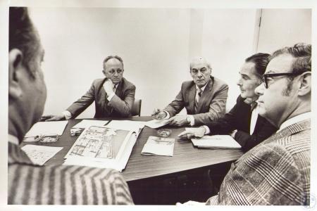 Image: di24089 - (left foreground) John C. Jacobs, Bill Grieme, Bernard Grimm, Ralph Haile Jr., Jay Osterman
