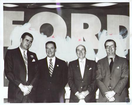 Image: di24151 - Ludlow Councilman Elmer Dietz, William Quinn, Sheriff Joseph (Nervie ) Nie and Ed Schroeder (ch. Dep.....