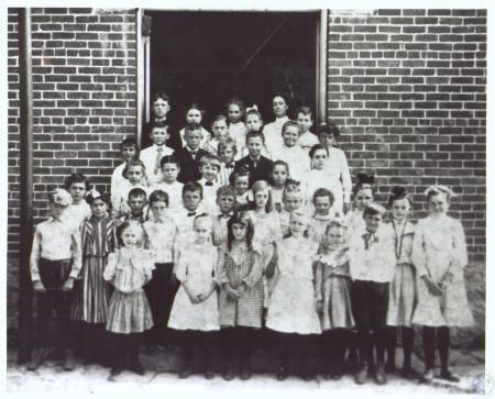 Image: di27478 - (Erlanger School on Erlanger Rd.) Front Row- 1. Virginia Yaeger 2. unnamed girl 3. Irma McCormick 4.....