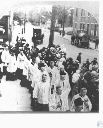 Image: di27976 - St. Aloysuis, Cove. Some priests in Father Ahman Jubilee procession