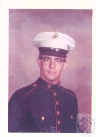 Image: di29517 - Cpl. Ted Hiatt was wounded in Vietnam