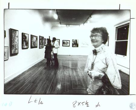 Image: di30008 - Lela Cooney, a display of her paintings part of