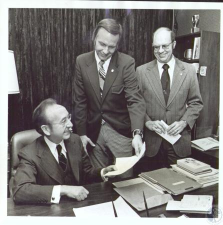 Image: di31129 - W. Frank Steely, unknown and Robert Enos