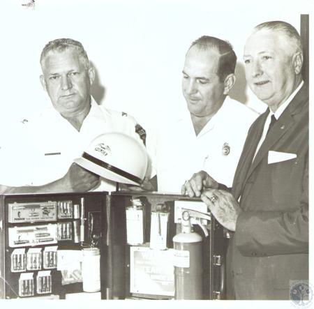 Image: di31492 - Chief Upshere White, Newport, Colonel Ralph Bosse, Covington, Chief Richard Quehl, Fort Thomas