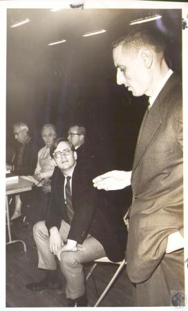 Image: di31738 - (standing) James Wilson, Gallatin County High School Principal; James Jones (seated)
