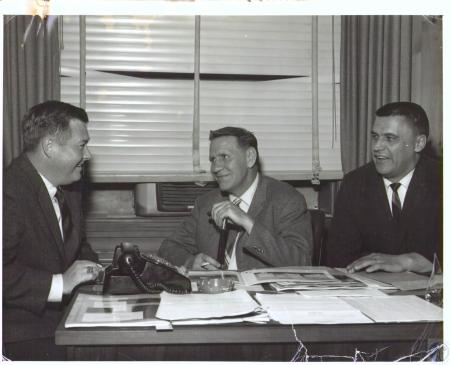 Image: di32457 - Carrollton Mayor Charles Webster; Robert W. Kenyon, VP for Manufacturing at all Eisen Brothers plants;....