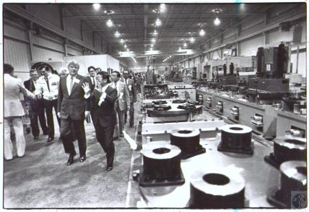 Image: di32897 - Gov. John Brown gets tour of plant by Tetsou