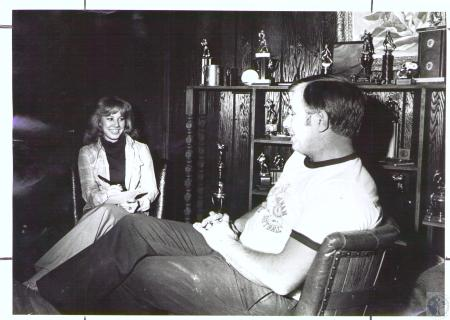 Image: di33196 - Connie Stafford interviews her father Clyde Stafford (41)