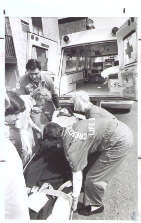 Image: di33637 - Robert Surface being taken to hospital
