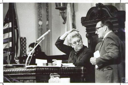 Image: di34100 - Lt. Governor Thelma Stovall and Rev. John Chenault, Pastor First Christian Church in Frankfort