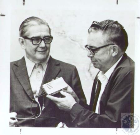 Image: di35973 - Charles Crowley (left0 and Norbert Allgeyer with Cardiobeeper