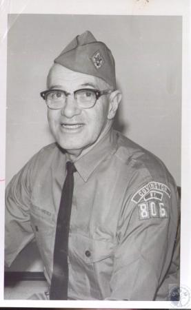 Image: di36286 - John H. Miller, helping to plan 40 year reunion of Boy Scout Troop #7